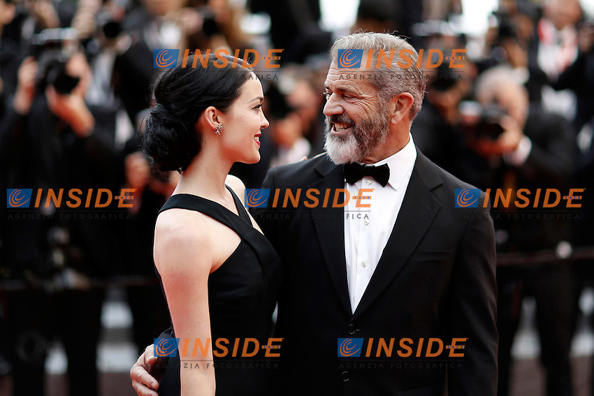 Mel Gibson et sa femme <br /> Festival del Cinema di Cannes 2016<br /> Foto Panoramic / Insidefoto