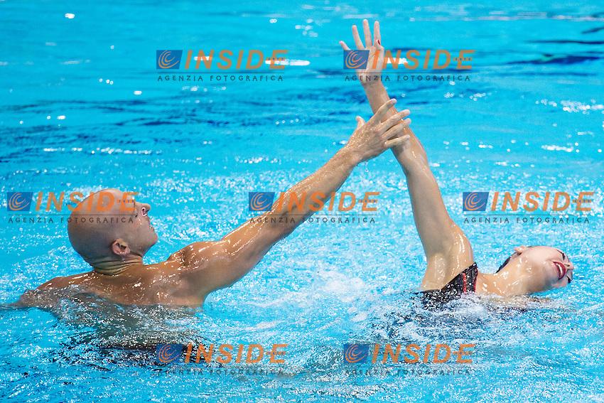 Chloe KAUTZMANN Benoit BEAUFILS FRA France <br /> Mixed Duet Free Final <br /> London, Queen Elizabeth II Olympic Park Pool <br /> LEN 2016 European Aquatics Elite Championships <br /> Synchronized Swimming <br /> Day 03 11-05-2016<br /> Photo Andrea Staccioli/Deepbluemedia/Insidefoto