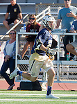 Tustin, CA 04/23/16 - Daniel Verga {La Costa Canyon #27) in action during the non-conference CIF varsity lacrosse game between La Costa Canyon and Foothill at Tustin Union High School.  Foothill defeated La Costa Canyon 10-9 in sudden death overtime.