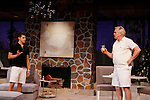 """Davy Raphaely and Malachy Cleary star in """"Other Desert Cities"""" at the tech rehearsal (in costume) on October 14, 2015 at Whippoorwill Halll Theatre, North Castle Library, Kent Place, Armonk, New York.  (Photo by Sue Coflin/Max Photos)"""
