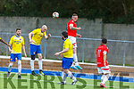 Action from Tralee Dynamos v Classic FC in the Munster Junior Cup 1st round game in Mounthawk Park on Sunday