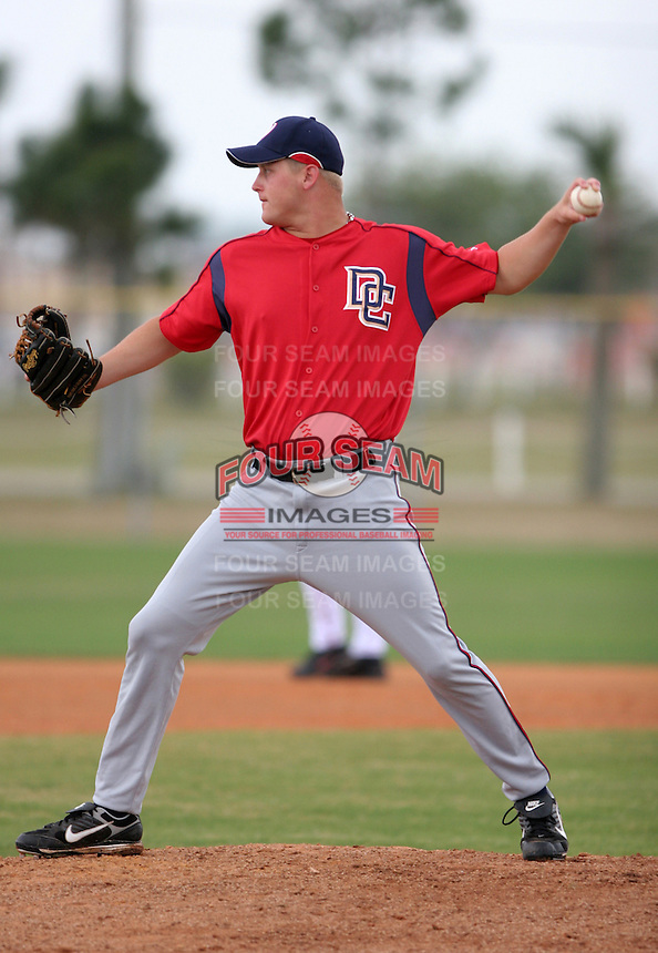 Washington Nationals minor leaguer Thomas Wilson during Spring Training at the Carl Barger Training Complex on March 20, 2007 in Melbourne, Florida.  (Mike Janes/Four Seam Images)