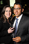 Wendy Vences and Daniel Rojo at the Realcity Literacy party at 13 Celsius Thursday Feb. 18,2010. (Dave Rossman Photo)