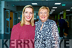 Caroline O'Halloran (Tralee) stands with Vicky Phelan guest speaker at the Nurses Unit in the Sólás Building in the I T Tralee on Friday