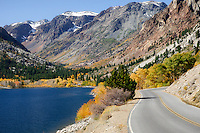 The windy road through Lundy canyon ends with a gorgeous view of Lundy Lake