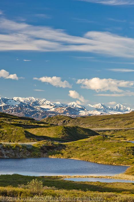 Lakes along the Denali highway in the Alaska Range mountains, Interior, Alaska.