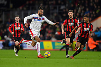 Eric Maxim Choupo-Moting of Stoke City breaks forward shadowed by Jordon Ibe  and Simon Francis of AFC Bournemouth during AFC Bournemouth vs Stoke City, Premier League Football at the Vitality Stadium on 3rd February 2018