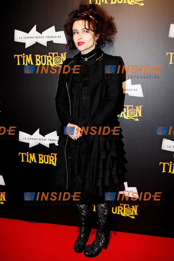 Helena Bonham-Carter.Parigi 05/03/2012 Red Carpet in occasione della mostra di Tim Burton..Photo Anthony Ghnassia / Panoramic / Insidefoto.ITALY ONLY