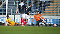 Dumbarton's Garry Fleming  scores their second goal.