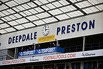 An interior view of the ground showing the Pavilion Stand before Preston North End take on Reading in an EFL Championship match at Deepdale. The home team won the match 1-0, Jordan Hughill scoring the only goal after 22nd minutes, watched by a crowd of 11,174.