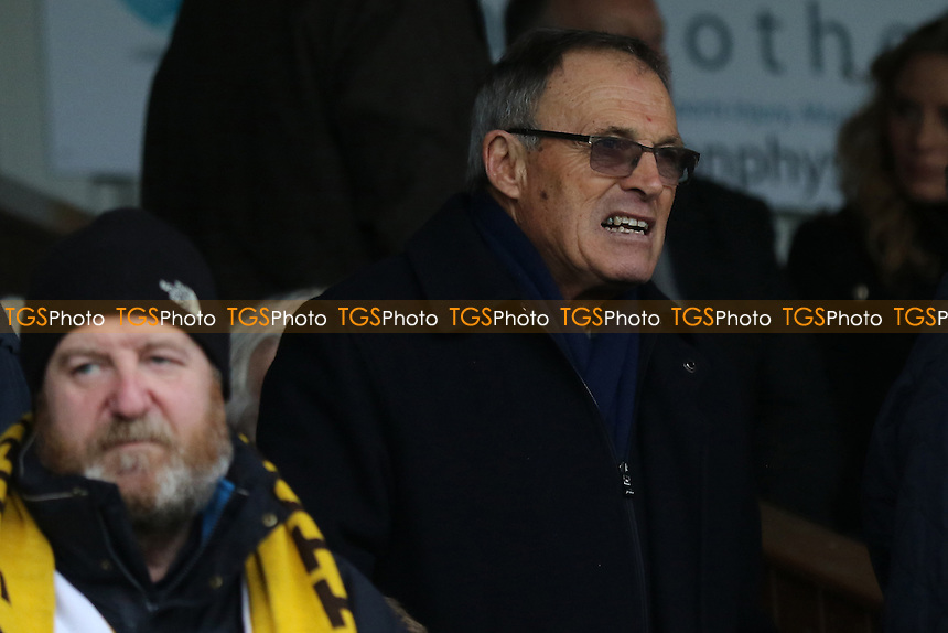 Crewe Alexandra's Dario Gradi currently suspended by the FA following claims he 'smoothed over' a sex assault complaint was in attendance. He previously played for Sutton during Sutton United vs Leeds United, Emirates FA Cup Football at the Borough Sports Ground on 29th January 2017