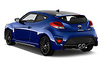 Car pictures of rear three quarter view of 2016 Hyundai Veloster 1.6-Turbo-Manual 4 Door Hatchback Angular Rear