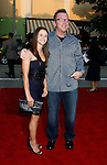 "Actor Tom Arnold and Actress Lisa Wilhoit  arrive at the Premiere of Columbia Pictures' ""Step Brothers"" at the Mann Village Theater on July 15, 2008 in Los Angeles, California."