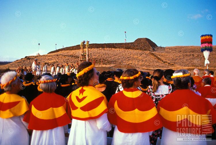 Puukohola heiau 200th anniversary on the Big Island