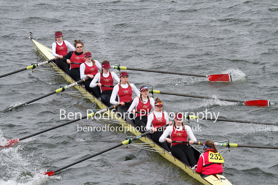 Crew: 232  Marlow RC  Event: Girls J16 CHAMP eights<br /> <br /> Schools' Head of the River 2017<br /> <br /> To purchase this photo, or to see pricing information for Prints and Downloads, click the blue 'Add to Cart' button at the top-right of the page.