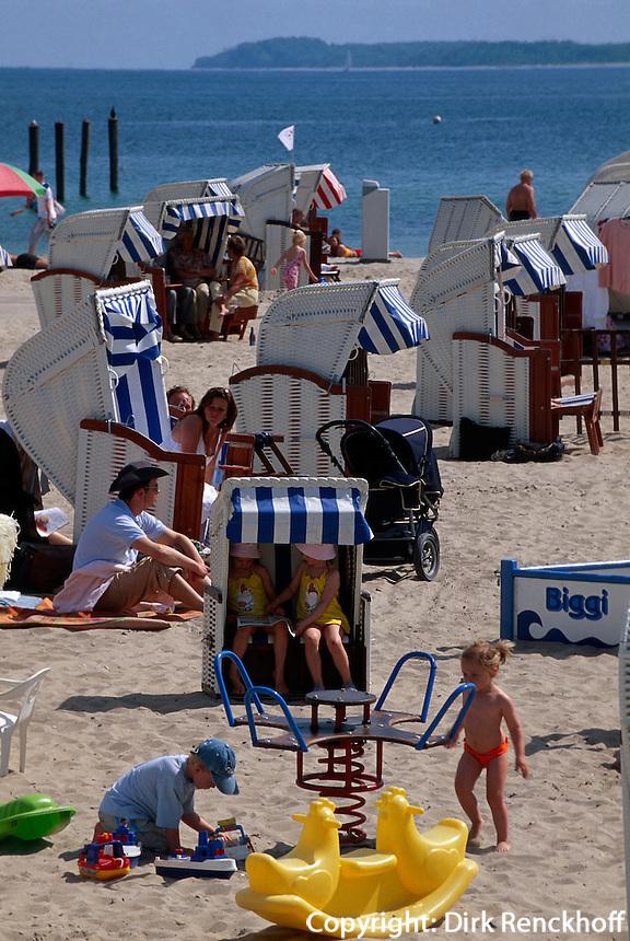 Strand von Travemünde, Schleswig-Hostein, Deutschland