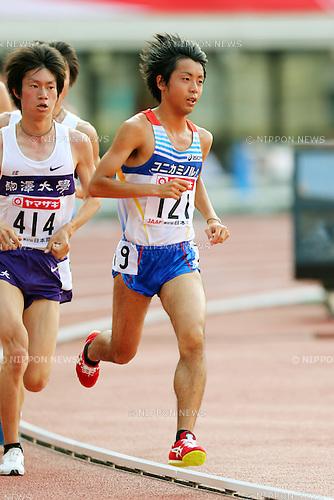 Tsuyoshi Ugachi (JPN), <br /> June 8, 2013 - Athletics : <br /> The 97th Japan Athletics National Championships, Men's 10000m Final <br /> at Ajinomoto Stadium, Tokyo, Japan. <br /> (Photo by Daiju Kitamura/AFLO SPORT)