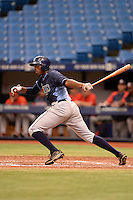 Tampa Bay Rays first baseman Nic Wilson (49) during an Instructional League game against the Boston Red Sox on September 25, 2014 at Tropicana Field in St. Petersburg, Florida.  (Mike Janes/Four Seam Images)