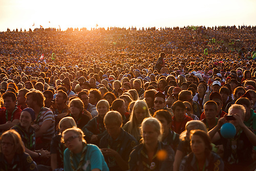 47 000 scouts gathering on concert at the World Scout Jamboree in Rinkaby Sweden. Photo: Magnus Fröderberg/Scouterna