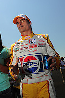 Apr 25, 2009; Talladega, AL, USA; NASCAR Sprint Cup Series driver Jeff Gordon during qualifying for the Aarons 499 at Talladega Superspeedway. Mandatory Credit: Mark J. Rebilas-