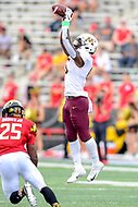 College Park, MD - SEPT 22, 2018: Minnesota Golden Gophers wide receiver Tyler Johnson (6) goes up high for a reception during game between Maryland and Minnesota at Capital One Field at Maryland Stadium in College Park, MD. The Terrapins defeated the Golden Bears 42-13 to move to 3-1 on the season. (Photo by Phil Peters/Media Images International)