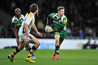 Chris Noakes of London Irish looks to pass the ball. Aviva Premiership match, between London Irish and Wasps on November 28, 2015 at Twickenham Stadium in London, England. Photo by: Patrick Khachfe / JMP