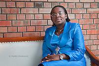 Opposition politician Victoire Ingabire at her home in Kigali, Rwanda.