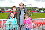 Enjoying the races in Listowel last Friday afternoon was Athea native Bernie Cragg, who was home from England with daughters Aoife and Aislinn and husband John.