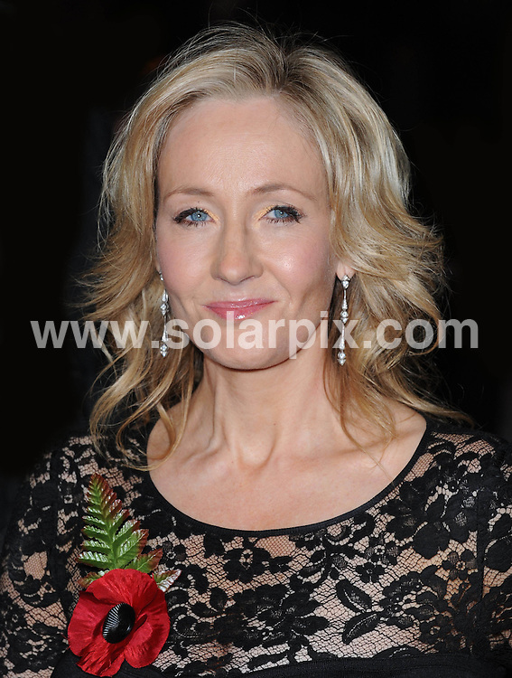**ALL ROUND PICTURES FROM SOLARPIX.COM** **WORLDWIDE SYNDICATION RIGHTS** Red carpet arrivals at the World Premiere of Harry Potter and The Deathly Gallows. Held at the Odeon Leicester Square and Empire Leicester Square in London, on Thursday November 11, 2010. This pic: J K Rowling JOB REF: 12464 SSD DATE: 11.11.10 **MUST CREDIT SOLARPIX.COM OR DOUBLE FEE WILL BE CHARGED** **MUST AGREE FEE BEFORE ONLINE USAGE** **CALL US ON: +34 952 811 768 or LOW RATE FROM UK 0844 617 7637**