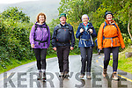 Laune Mountaineering club members Noreen Hickey, Jackie O'Sullivan, Yvonne Eadie and Joan O'Reilly who are starting to walk the Kerry Way on 16th September