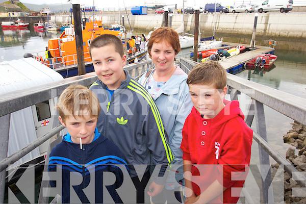 Ben Donelan, Adam Dolan, Angela Donelan and Cian Donelan (Churchill) enjoying Fenit Regatta on Sunday.