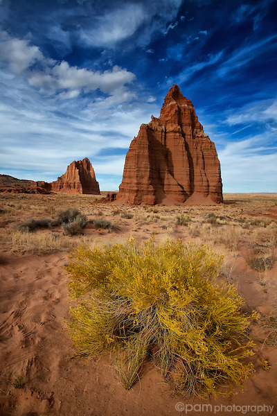 Temples of the Sun and Moon in Utah's Cathedral Valley