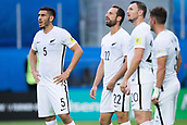 17th June 2017, St Petersburg, Russia; FIFA 2017 Confederations Cup football, Russia versus New Zealand; Group A - Saint Petersburg Stadium,  New Zealand's Michael Boxall (l-r), Andrew Durante, Tommy Smith and Deklan Wynne look dejected during the Confederations Cup Group A soccer match between Russia and New Zealand at the stadium in Saint Petersburg, Russia, 17 June 2017.