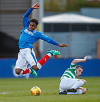 30.04.18 Glasgow Cup Final Rangers v Celtic : Dapo Mebude lfouled by Dylan Forrest