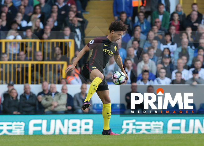 Manchester City's Leroy Sane<br /> during the Premier League match between Tottenham Hotspur and Manchester City at White Hart Lane, London, England on 2 October 2016. Photo by Kieran  Galvin / PRiME Media Images.
