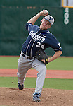 March 30, 2012:   BYU Cougars relief pitcher Tyler Westensee throws against the Nevada Wolf Pack during their NCAA baseball game played at Peccole Park on Friday afternoon in Reno, Nevada.