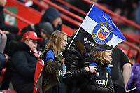 A Bath Rugby supporter in the crowd looks on. Heineken Champions Cup match, between Stade Toulousain and Bath Rugby on January 20, 2019 at the Stade Ernest Wallon in Toulouse, France. Photo by: Patrick Khachfe / Onside Images