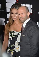 LOS ANGELES, CA. August 22, 2016: Actors Jessica Alba &amp; Jason Statham at the Los Angeles premiere of &quot;Mechanic: Resurrection&quot; at the Arclight Theatre, Hollywood.<br /> Picture: Paul Smith / Featureflash