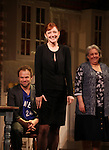 Norbert Leo Butz, Judy Greer & Jayne Houdyshell during Broadway Opening Night Performance Curtain Call for 'Dead Accounts' at the Music Box Theatre in New York City. November 29, 2012.