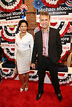 Allyson Tucker and Brian Stokes Mitchell attends the Broadway Opening Night Performance for 'Michael Moore on Broadway' at the Belasco Theatre on August 10, 2017 in New York City.