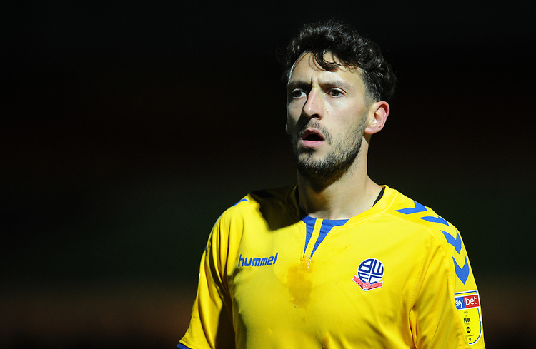 Bolton Wanderers' Will Buckley<br /> <br /> Photographer Kevin Barnes/CameraSport<br /> <br /> EFL Leasing.com Trophy - Northern Section - Group F - Rochdale v Bolton Wanderers - Tuesday 1st October 2019  - University of Bolton Stadium - Bolton<br />  <br /> World Copyright © 2018 CameraSport. All rights reserved. 43 Linden Ave. Countesthorpe. Leicester. England. LE8 5PG - Tel: +44 (0) 116 277 4147 - admin@camerasport.com - www.camerasport.com