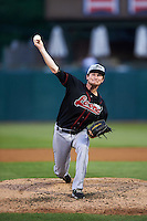 Great Lakes Loons pitcher David Reid-Foley (41) delivers a pitch during a game against the Kane County Cougars on August 13, 2015 at Fifth Third Bank Ballpark in Geneva, Illinois.  Great Lakes defeated Kane County 7-3.  (Mike Janes/Four Seam Images)
