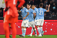 Sergej Milinkovic Savic of Lazio celebrates with team mates after scoring a goal<br /> Roma 07-12-2019 Stadio Olimpico <br /> Football Serie A 2019/2020 <br /> SS Lazio - Juventus FC<br /> Photo Cesare Purini / Insidefoto