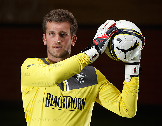 Cammy Bell in the new Puma goalkeepers outfit