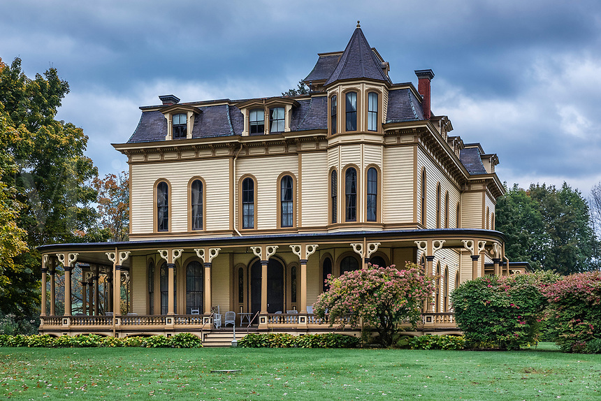The Park-McCullough Mansion estate, Bennington, Vermont, USA.