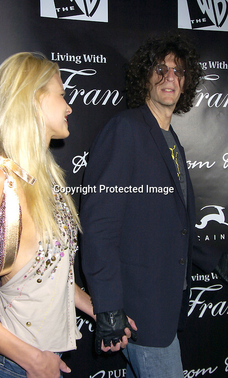 "Beth Ostrowsky, Howard Stern ..at The Premiere Party for ""Living with Fran""  sponsored by ..Pureromance.com on April 8, 2005 at Cain Lounge. ..Photo by Robin Platzer, Twin Images"