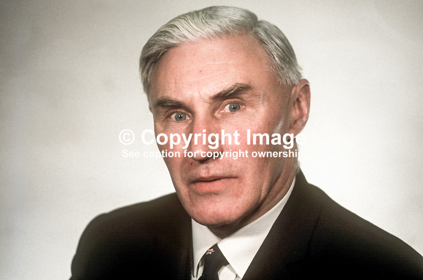 Herbert Whitten, MP, Ulster Unionist, N Ireland Parliament, Stormont, Belfast, February 1969, 196902000060a<br /> <br /> Copyright Image from Victor Patterson, 54 Dorchester Park, Belfast, UK, BT9 6RJ<br /> <br /> Tel: +44 28 9066 1296<br /> Mob: +44 7802 353836<br /> Voicemail +44 20 8816 7153<br /> Email: victorpatterson@me.com<br /> Email: victorpatterson@gmail.com<br /> <br /> IMPORTANT: My Terms and Conditions of Business are at www.victorpatterson.com