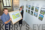 EXHIBITION: Ardfert Cathedral staff Donal Stack and Majella Starrett with some of the material on display about the excavation of over 2,300 graves at the cathedral in the 1980s and 1990s.