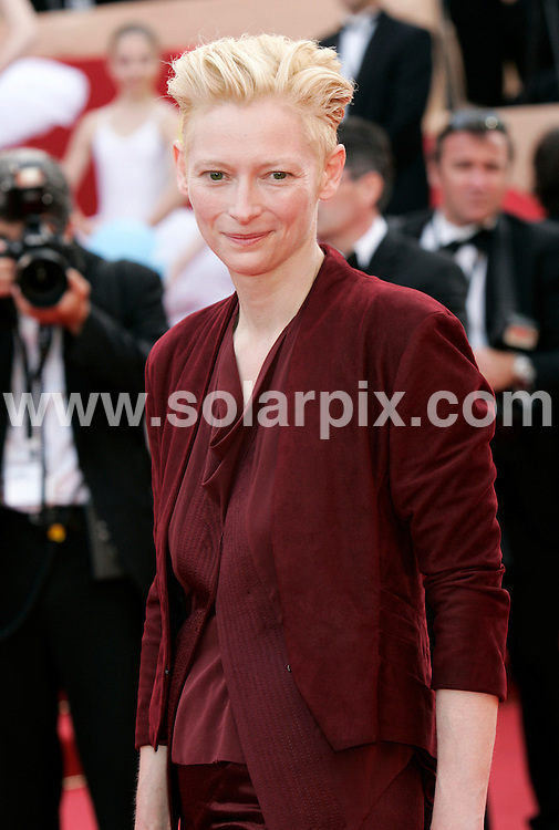 **ALL ROUND PICTURES FROM SOLARPIX.COM**.**SYNDICATION RIGHTS FOR UK AND SPAIN ONLY**.Opening Night and Premiere of Up.62nd Cannes Film Festival in Cannes, France...This pic:Tilda Swinton.JOB REF:8991          CPR/Heinz        DATE:13.05.09.**MUST CREDIT SOLARPIX.COM OR DOUBLE FEE WILL BE CHARGED**.**ONLINE USAGE FEE GBP 50.00 PER PICTURE - NOTIFICATION OF USAGE TO PHOTO @ SOLARPIX.COM**.**CALL SOLARPIX : +34 952 811 768 or LOW RATE FROM UK 0844 617 7637**