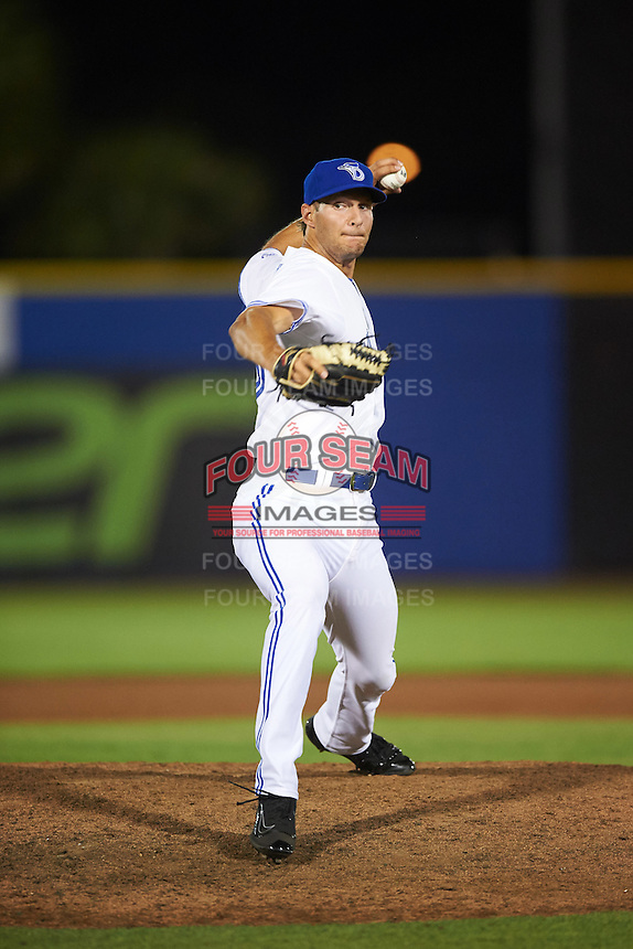 Dunedin Blue Jays relief pitcher Matt Dermody (46) delivers a pitch during a game against the Palm Beach Cardinals on April 15, 2016 at Florida Auto Exchange Stadium in Dunedin, Florida.  Dunedin defeated Palm Beach 8-7 in ten innings.  (Mike Janes/Four Seam Images)
